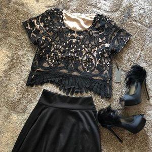 NWT Lovers + Friends Dressy Crop Top
